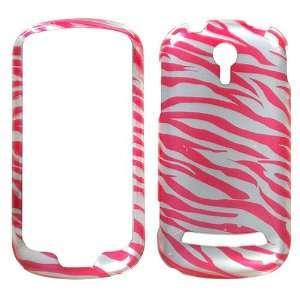 Hot Pink Silver Zebra Protector Case for LG Quantum C900