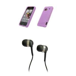 HTC Droid Incredible Premium Light Purple Silicone Skin Case Cover