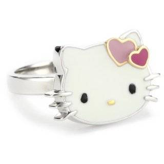 Hello Kitty Pink Enamel Bow And Sterling Silver Ring, Size 7 Jewelry