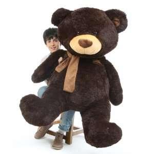 Almond Shags Jumbo Chocolate Brown Plush Teddy Bear 52in  Toys