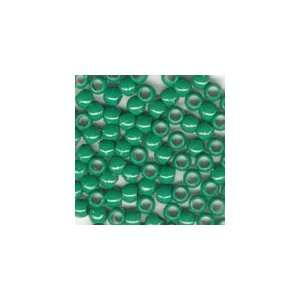 Plastic Mini Pony Beads 5x7mm Green Opaque, 500pcs Office