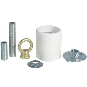 Lamp Repair Parts Socket Adapter Kit,Porcelain Keyless