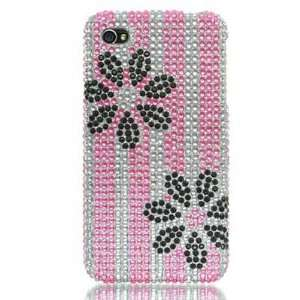 APPLE IPHONE 4 FULL DIAMOND PROTECTOR CASE   PINK AND