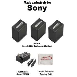 3 Pack Of Li Ion Extended Life Replacement Battery Pack