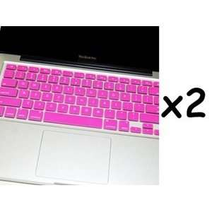 Bluecell 2 Pcs Pink Keyboard Cover for Apple Macbook/Macbook