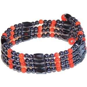 Magnetic Hematite Bracelet Necklace Cat Eye Orange 32