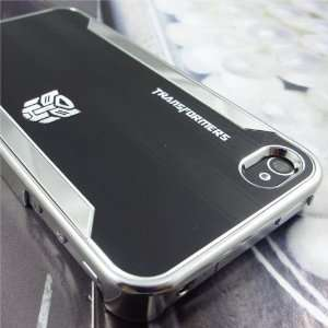 Brushed Metal Back Hard Case for Apple iPhone 4 4S
