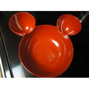 Mickey Mouse Head Shape Large Chip & Dip Bowl   Red: Kitchen & Dining