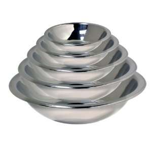 HDS Trading 5 Piece Mixing Bowl Set 16 To 34cm Stainless Steel Finish