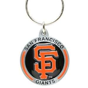 Zinc MLB Team Logo Key Ring   San Francisco Giants Sports