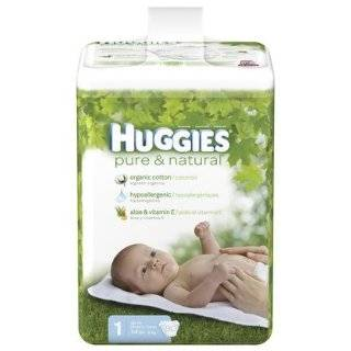 Huggies Pure & Natural Diapers Big Pack Size 1 80ct.