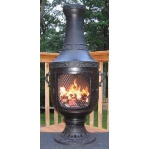 ALCH026CH Venetian Chiminea Outdoor Fireplace in: Patio, Lawn & Garden