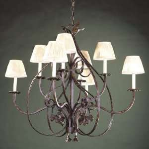 Old World Charm Collection Chandelier In Oxide Bronze Finish   8 Bulbs