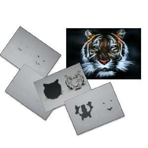 Step by Step Airbrush Stencil Template AS 033 M ca. 5,11