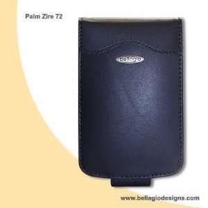 Palm Zire 72 Black Leather Flip Case Without Belt Clip