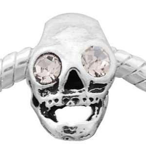Skull Pandora Style Spacer Bead Charm For European Style Bracelets