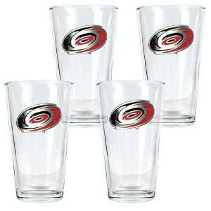 Carolina Hurricanes NHL 4pc Pint Ale Glass Set  Sports
