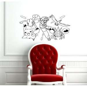 Pokemon Baby Kids Room Nursery Wall Vinyl Sticker Decals Art Mural