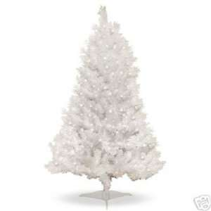 Pre Lit Clear White Indiana Spruce Artificial Christmas Tree Home