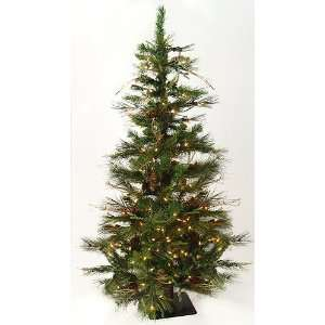 4 Pre Lit Ashland Fir Artificial Christmas Tree w/ Pine