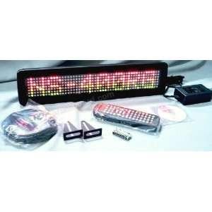 Programmable Message Sign   Tri Color   4H x 17L x 1D