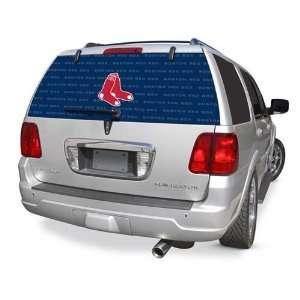 Boston Red Sox Rear Window Rearz Sticker   Decal