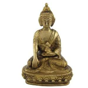 Lord Buddha Brass Statue Religious Gifts: Home & Kitchen