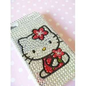 Hello Kitty iPhone 4 Rhinestone Bling Case with Hk White