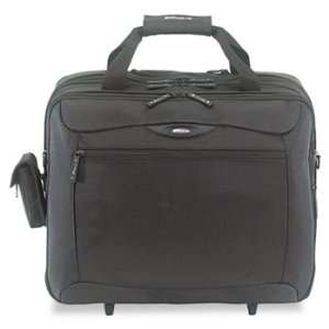 NEW   Rolling Travel Laptop Case, Nylon, 18 x 10 x 15
