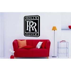 GARAGE WALL ROLLS ROYCE LOGO DECAL STICKER ART 1090