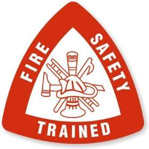 Fire Safety Trained   Spot a Hat Reflective Hard Hat & Helmet