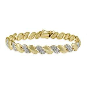 Gold Plated Sterling Silver Diamond Accent San Marco Bracelet Jewelry