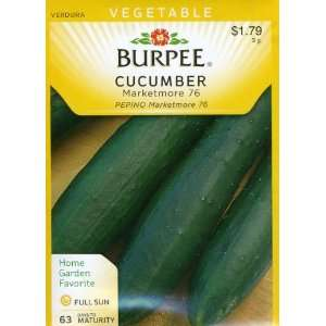 Burpee 52281 Cucumber Marketmore 76 Seed Packet Patio