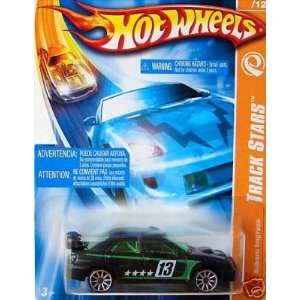 Mattel Hot Wheels 2007 Track Stars 164 Scale Black & Green Subaru