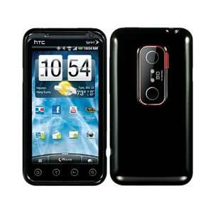 Black TPU Ice Crystal Soft Skin Rubber Case Cover for HTC