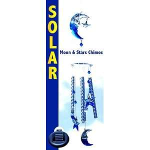 & Stars Wind Chimes Solar Color Changing Light Patio, Lawn & Garden