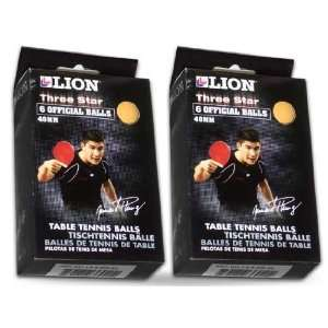 Orange Lion 3 Star Table Tennis Balls [One dozen]