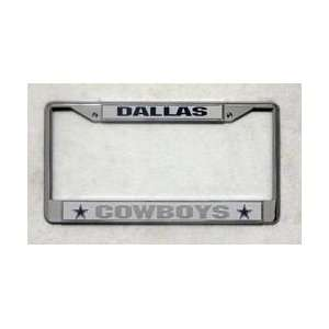 Dallas Cowboys Chrome License Plate Frame Sports & Outdoors