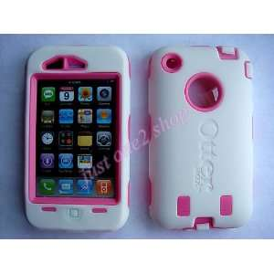 3G/3GS Pink/ White Otterbox Defender Series Case with White Holster