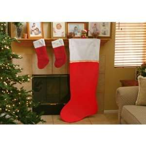 5 FT Jumbo Red Felt Giant Christmas Stocking