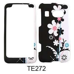 HTC Surround Black and White Flowers Hard Case,Cover,Faceplate,SnapOn