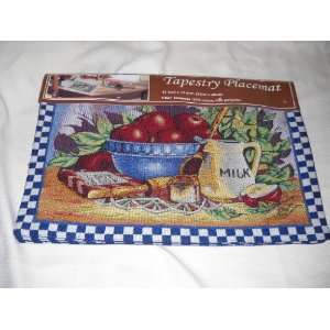 Cooking with Apples Kitchen Table Placemat Set Linens Fruit Decor