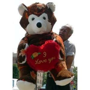 Giant 60 Teddy Bear Holding I Love You Heart   Color