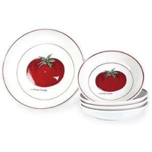 Over & Back Sundried Tomato 5 Piece Pasta Bowl Set
