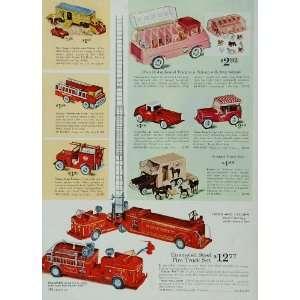 Trailer Fire Truck Tonka Jeep   Original Print Ad Home & Kitchen