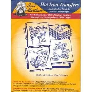 Aunt Martha Hot Iron Transfers 3585 Kitchen Usefulness