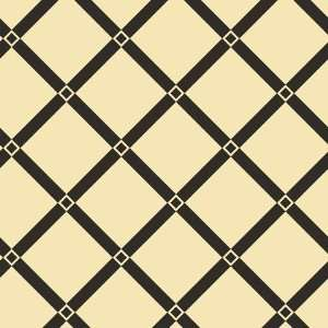 Lancaster Trellis Black and Ivory Wallpaper in Shand Kydd