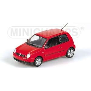 VW LUPO 2004 in RED Diecast Model Car in 1:43 Scale by