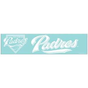 Diego Padres MLB Die Cut Decal (4x16) by Wincraft