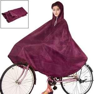 Como Women Men Dark Red Cycling Bicycle Bike Raincoat Rain Cape